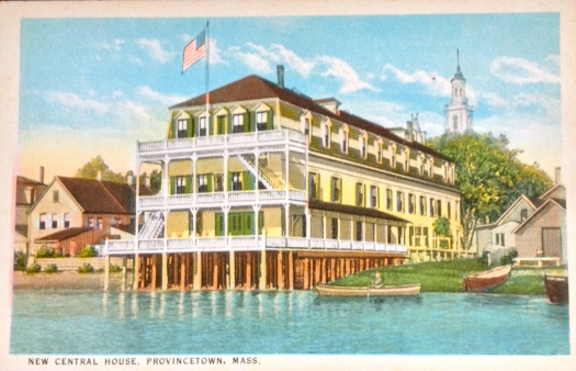 Now called The Crown & Anchor, the New Central Hotel was a popular Provincetown Inn in the 19th century