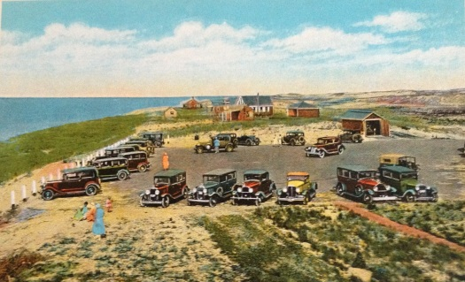 Parking space, Race Point Coast Guard Station, Provioncetown, Cape Cod, Massachusetts