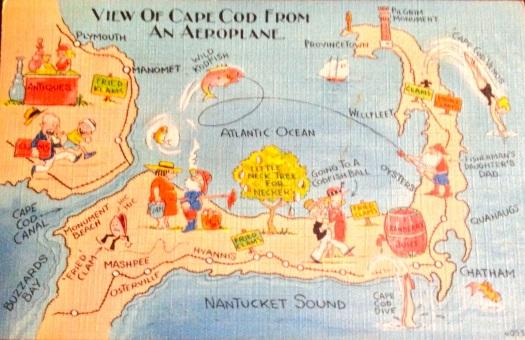 Vintage Cape Cod postcard circa 1930