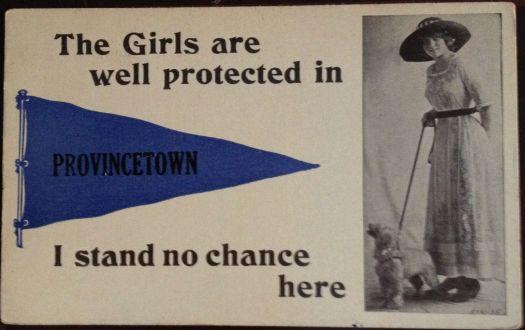 An antique postcard with an interesting statement