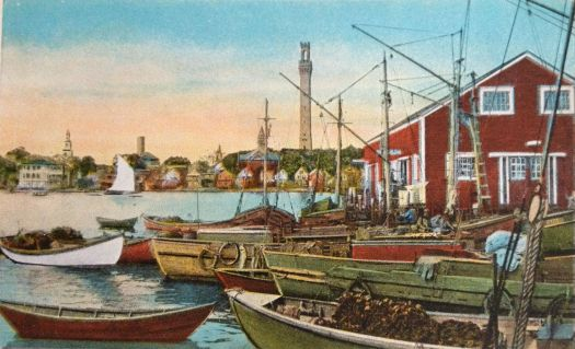 Fishing Boats at Provinetown, Cape Cod Mass. circa 1900