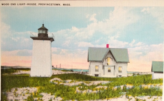 Antique Postcard of Wood End Lighthouse in Provincetown, Massachusetts