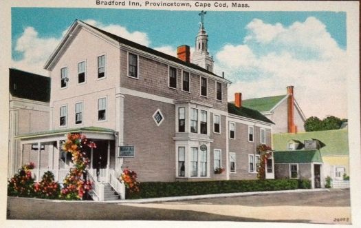 Provincetown Cape Cod The Bradford Inn when postcards costs one penny to mail.