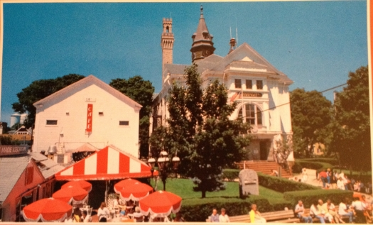 Provincetown, Massachusetts Town Hall and Cafe Poyant circa 1970