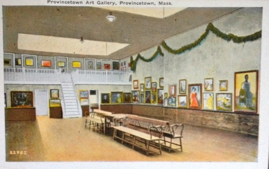 Interior view of the Provincetown Art Association and Museum in 1940