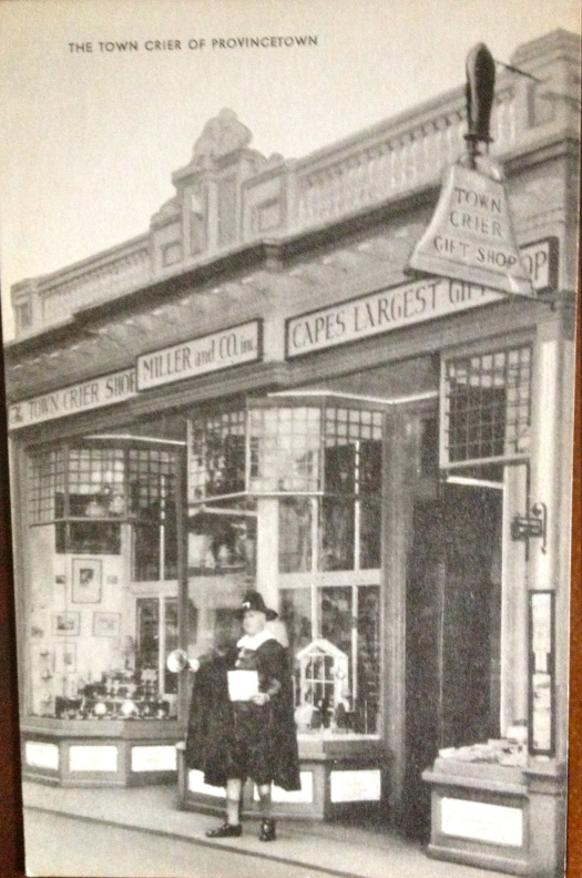 purchased in 1940 This antique postcard shows the Town Crier Gift Shop.