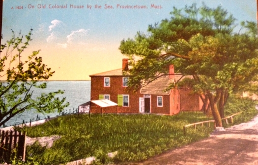 Old colonial house by the sea in Provincetown, Cape Cod circa 1911