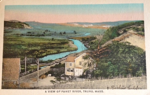 Early 20th century Truro Postcard showing Pamet River.
