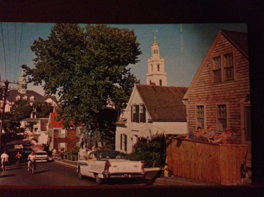 Provincetown, Cape Cod Bradford Street, just past the town center during the early 1960s.