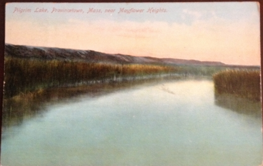 Pilgrim Lake approaching from Mayflower Heights Provincetown, Cape Cod