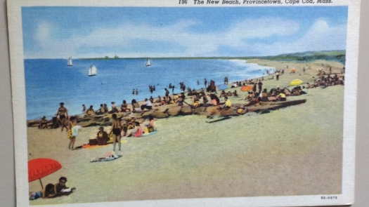 The New Beach, Provincetown Postcard 1940s